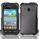 Hard Plastic Snap On Case Cover for Samsung Galaxy Rugby Pro i547 (AT&T) – Carbon Fiber
