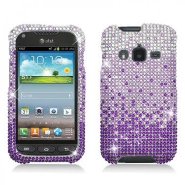 Hard Plastic Snap On Bling Case Cover for Samsung Galaxy Rugby Pro i547 (AT&T) � Purple Waterfall