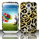 Hard Plastic Rubberized Snap On Case Cover for Samsung Galaxy S4 IV i9500 – Golden Cheetah