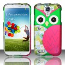 Hard Plastic Rubberized Snap On Case Cover for Samsung Galaxy S4 IV i9500 – Starry Green Owl