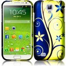 Hard Plastic Rubberized Snap On Case Cover for Samsung Galaxy S4 IV i9500 – Royal Swirl