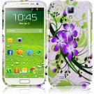 Hard Plastic Snap On Design Case Cover for Samsung Galaxy S4 IV i9500 – Green & Purple Lily