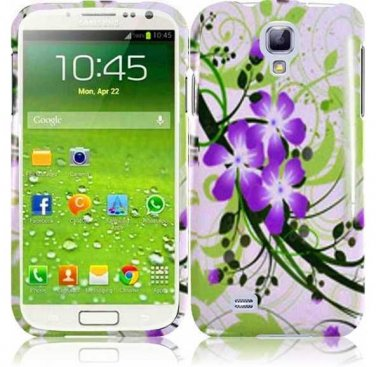 Hard Plastic Snap On Design Case Cover for Samsung Galaxy S4 IV i9500 � Green & Purple Lily