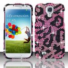Hard Plastic Snap On Bling Case Cover for Samsung Galaxy S4 IV i9500 – Pink Cheetah