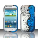 Hard Plastic Snap On Matte Case Cover for Samsung Galaxy Mini i8190 (AT&T) – Blue Vines
