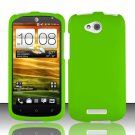 Hard Plastic Snap On Rubberized Case Cover for HTC One VX (AT&T) - Neon Green
