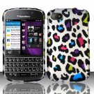 Hard Plastic Snap On Case Cover for Blackberry Q10 (AT&T/Sprint/T-Mobile/Verizon) - Rainbow Loepard