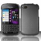 Hard Plastic Snap On Case Cover for Blackberry Q10 (AT&T/Sprint/T-Mobile/Verizon) - Carbon Fiber