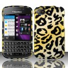 Hard Plastic Snap On Case Cover for Blackberry Q10 (AT&T/Sprint/T-Mobile/Verizon) - Golden Cheetah
