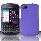 Hard Plastic Snap On Case Cover Blackberry Q10 (AT&T/Sprint/T-Mobile/Verizon) - Purple