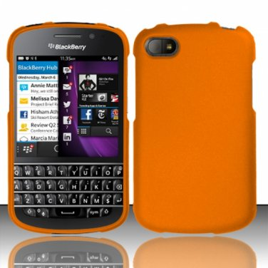 Hard Plastic Snap On Case Cover Blackberry Q10 (AT&T/Sprint/T-Mobile/Verizon) - Orange