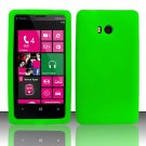 Soft Silicone Rubber Skin Case Cover for Nokia Lumia 810 (T-Mobile) - Neon Green