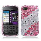 Hard Plastic Snap On Bling Case Cover for Blackberry Q10 (AT&T/Sprint/T-Mobile/Verizon) - Pink Layer