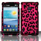 Cell Phone Case Cover Snap On for LG Lucid 2 VS870 (Verizon) - Hot Pink Leopard + Screen Protector
