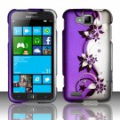 Cell Phone Case Cover Hard Plastic Snap On for Samsung  ATIV S T899m (T-Mobile) - Purple Vines