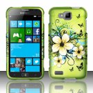 Cell Phone Case Cover Hard Plastic Snap On for Samsung  ATIV S T899m (T-Mobile) - Flowers Butterfly