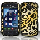 Cell Phone Case Cover Hard Plastic Snap On for Pantech Marauder ADR910L (Verizon) - Golden Cheetah