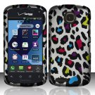 Cell Phone Case Cover Hard Plastic Snap On for Pantech Marauder ADR910L (Verizon) - Rainbow Leopard