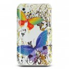 Hard Plastic Design Case For Apple iPhone 3g/3gs  - White Rainbow Butterfly