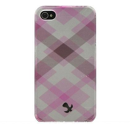 Hard Plastic Design Case For Apple iPhone 4G - Pink Pastel Checker