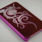 Hard Plastic Dragon Design Back Cover Case For Apple iPhone 4G  - Hot Pink