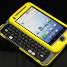 Hard Plastic Rubber Feel Cover Case For HTC G2 - Yellow