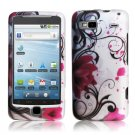 Hard Plastic Rubber Feel Design Case For HTC G2 - Pink Lotus