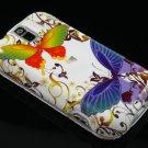 Hard Plastic Design Case for HTC Mytouch Slide 3G (T-Mobile) - White Rainbow Butterfly