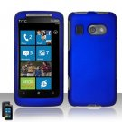 Hard Plastic Rubber Feel Cover Case For HTC Surround - Blue