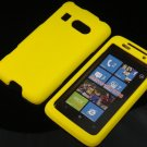 Hard Plastic Rubber Feel Cover Case For HTC Surround - Yellow