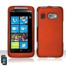 Hard Plastic Rubber Feel Cover Case For HTC Surround - Orange