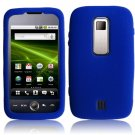 Textured Flexi Silicone Skin Cover Case for Huawei Ascend M860 - Blue