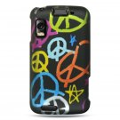 Hard Plastic Design Case for Motorola Atrix 4G MB860 - Rainbow Peace Sign