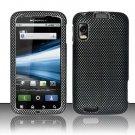 Hard Plastic Rubber Feel Design Case for Motorola Atrix 4G MB860 - Carbon Fiber