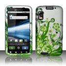 Hard Plastic Rubber Feel Design Case for Motorola Atrix 4G MB860 - Green Vines