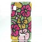 Hard Plastic Bling Rhinestone Design Case for Motorola Droid 2 A955 - Hawaiian Flowers