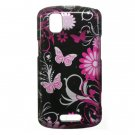 Hard Plastic Design Case for Motorola Droid Pro T610 - Pink Butterfly