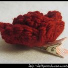 Crocheted small rose - Dark Red