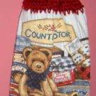 BUTTONLESS COUNTRY BEAR crochet top towel