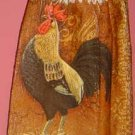 BUTTONLESS Rooster crochet top kitchen towel