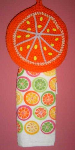 ORANGE SLICE TOWEL HOLDER crochet