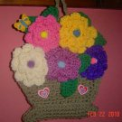 BASKET of ROSES CROCHET hanging
