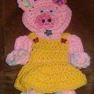 crochet MISS PIGGY potholder wallhanging