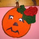 HALLOWEEN PUMPKIN Crochet Kitchen Potholder pot holder
