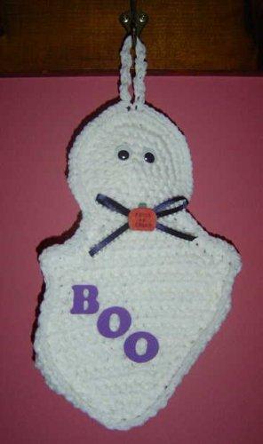 HALLOWEEN Ghost Crochet Kitchen Potholder pot holder