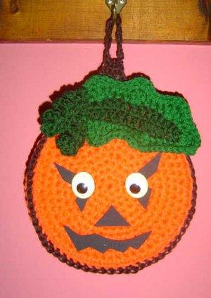 HALLOWEEN PUMPKIN Crochet Kitchen Potholder pot holder