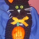 BLACK KITTY CAT jar topper