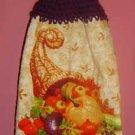 crochet Fall CORNUCOPIA towel
