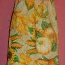 FALL/AUTUMN pumpkin/corn crochet TOP TOWEL