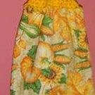 buttonless FALL/AUTUMN pumpkin/corn crochet TOP TOWEL